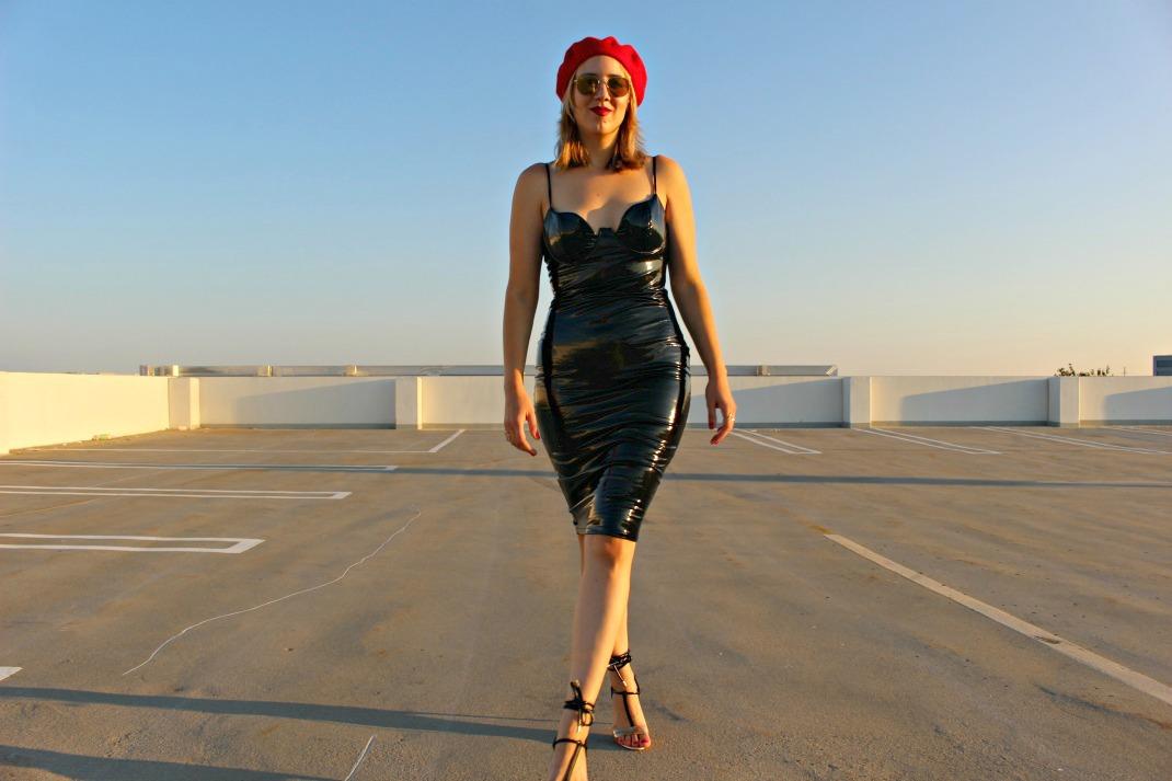Vinyl Bodycon Dress